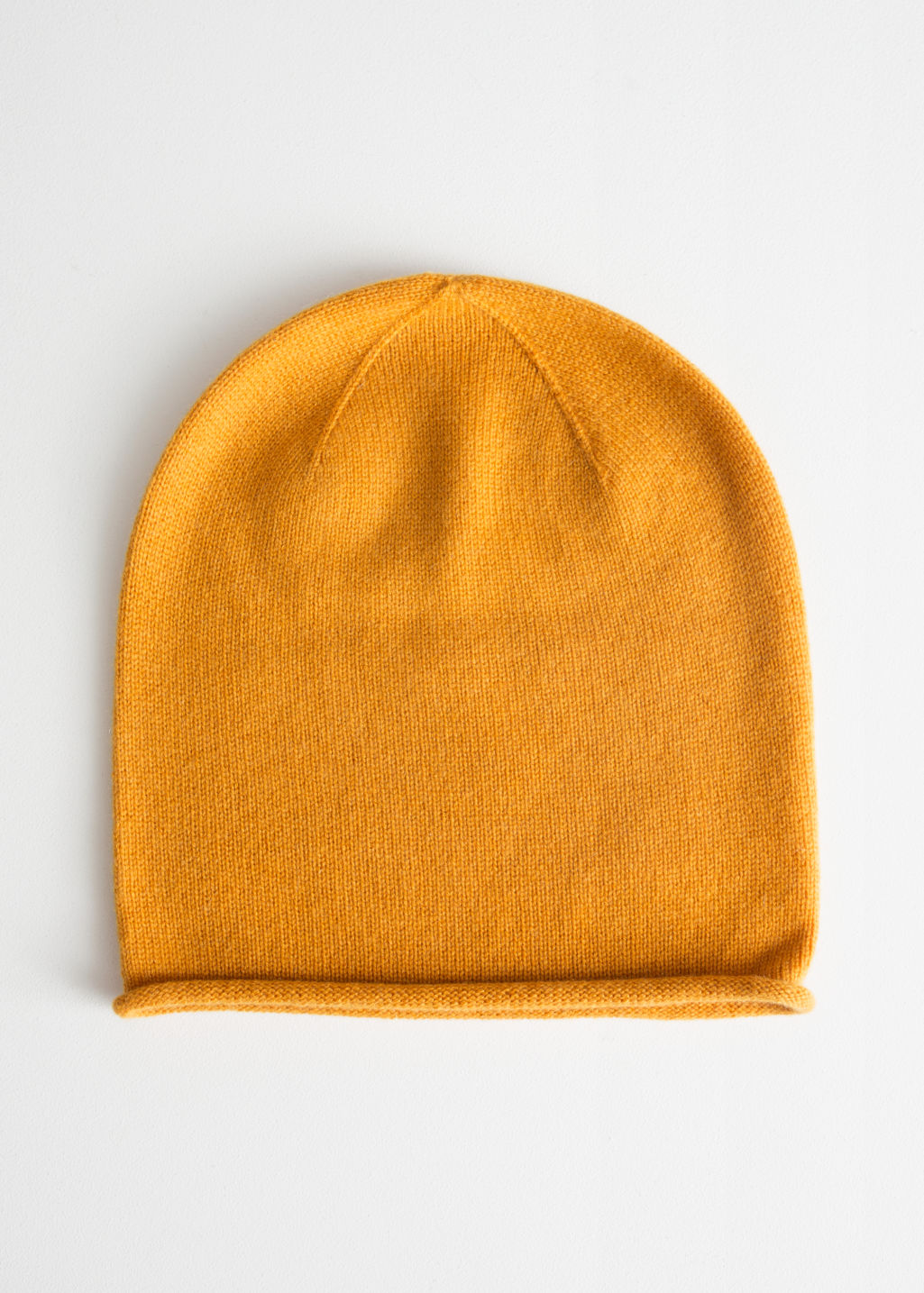 Cashmere Knit Beanie - Yellow - Beanies -   Other Stories c03453dceca
