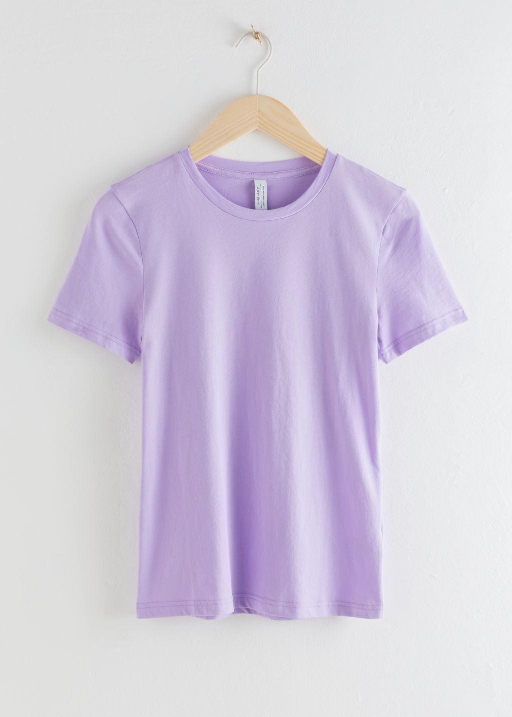 Front image of Stories organic cotton t-shirt in purple