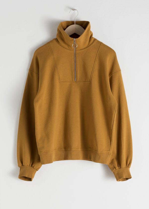 Zip Up Cotton Pullover