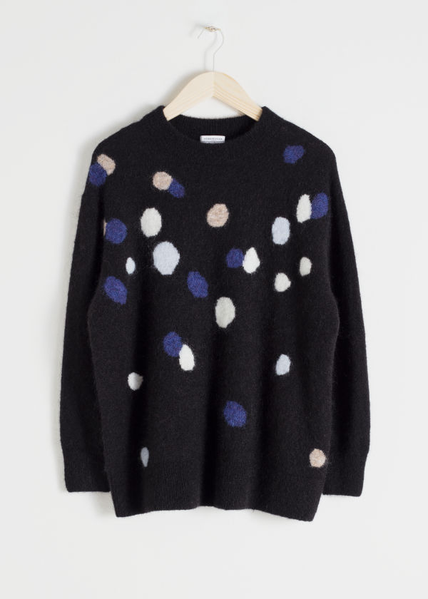 Oversized Dotted Sweater