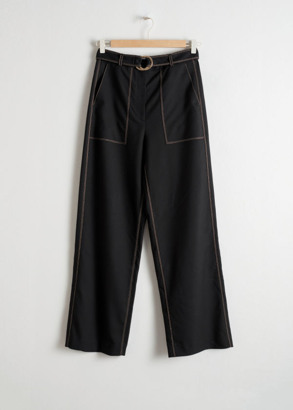 Belted Workwear Trousers