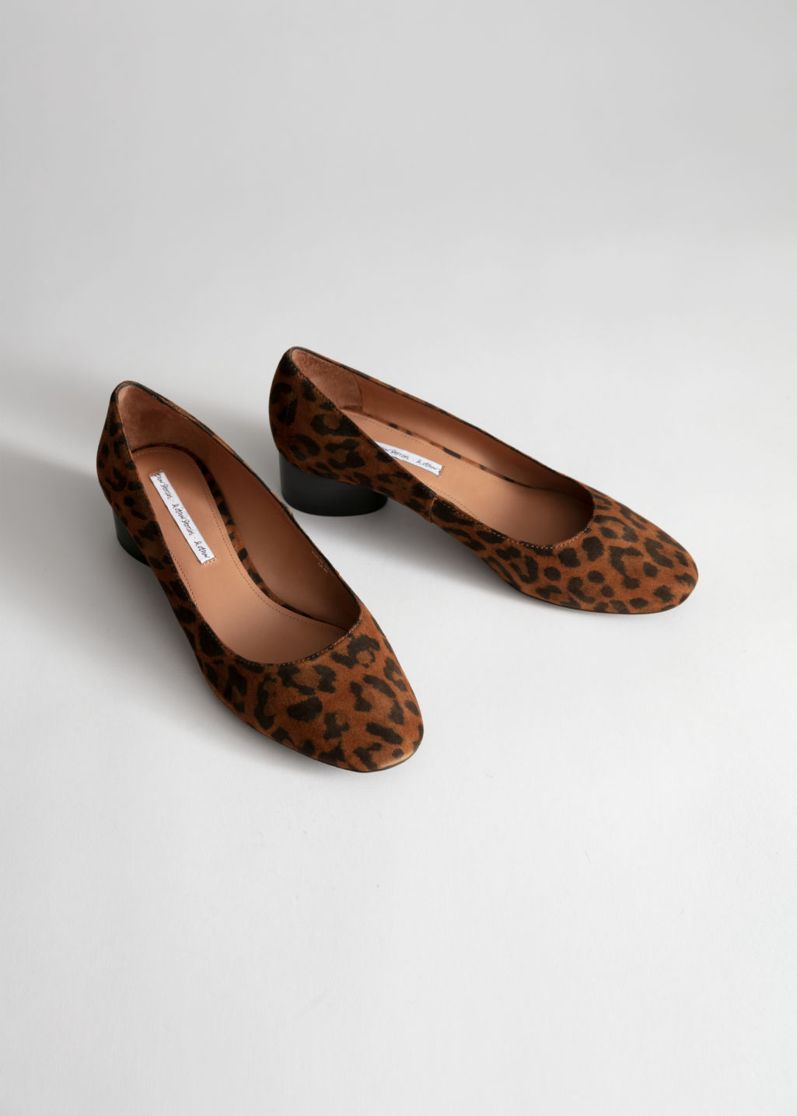 0dc7224f04be Suede Ballerina Pumps - Leopard - Pumps -   Other Stories