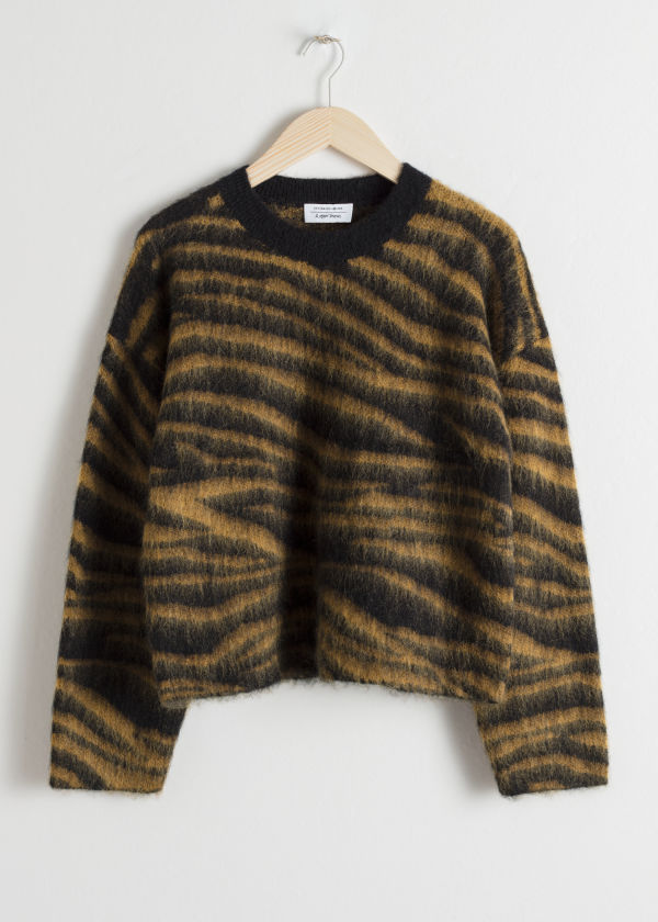 Wool Blend Zebra Sweater