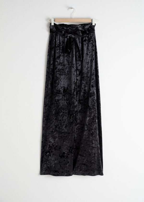 Stretch Crushed Velvet Trousers