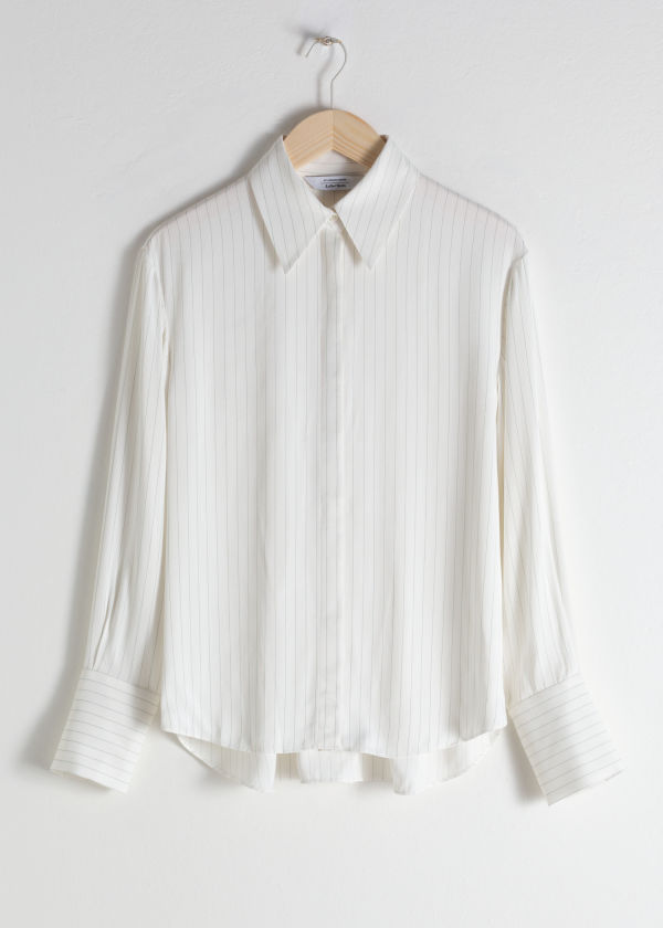Pinstripe Button Up Shirt