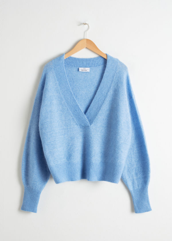 Plunging V-Cut Sweater