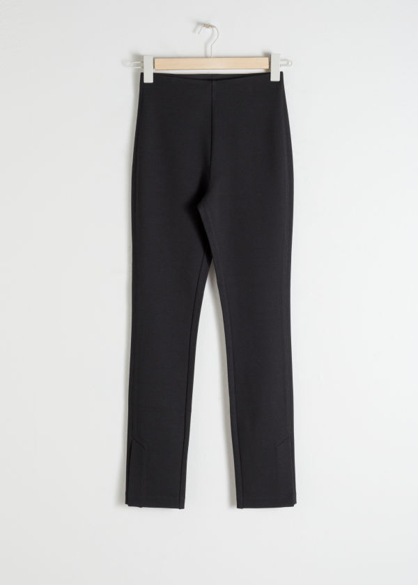 Side Slit Fitted Trousers