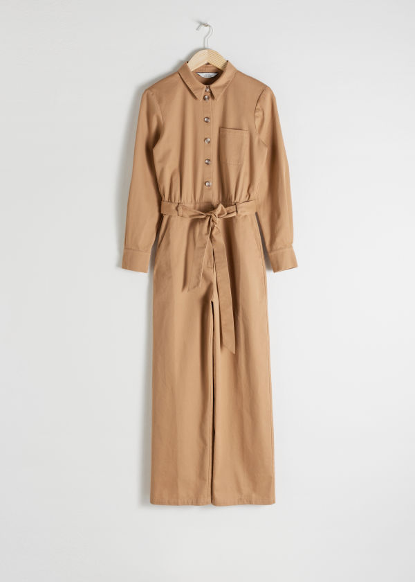 Belted Cotton Boilersuit