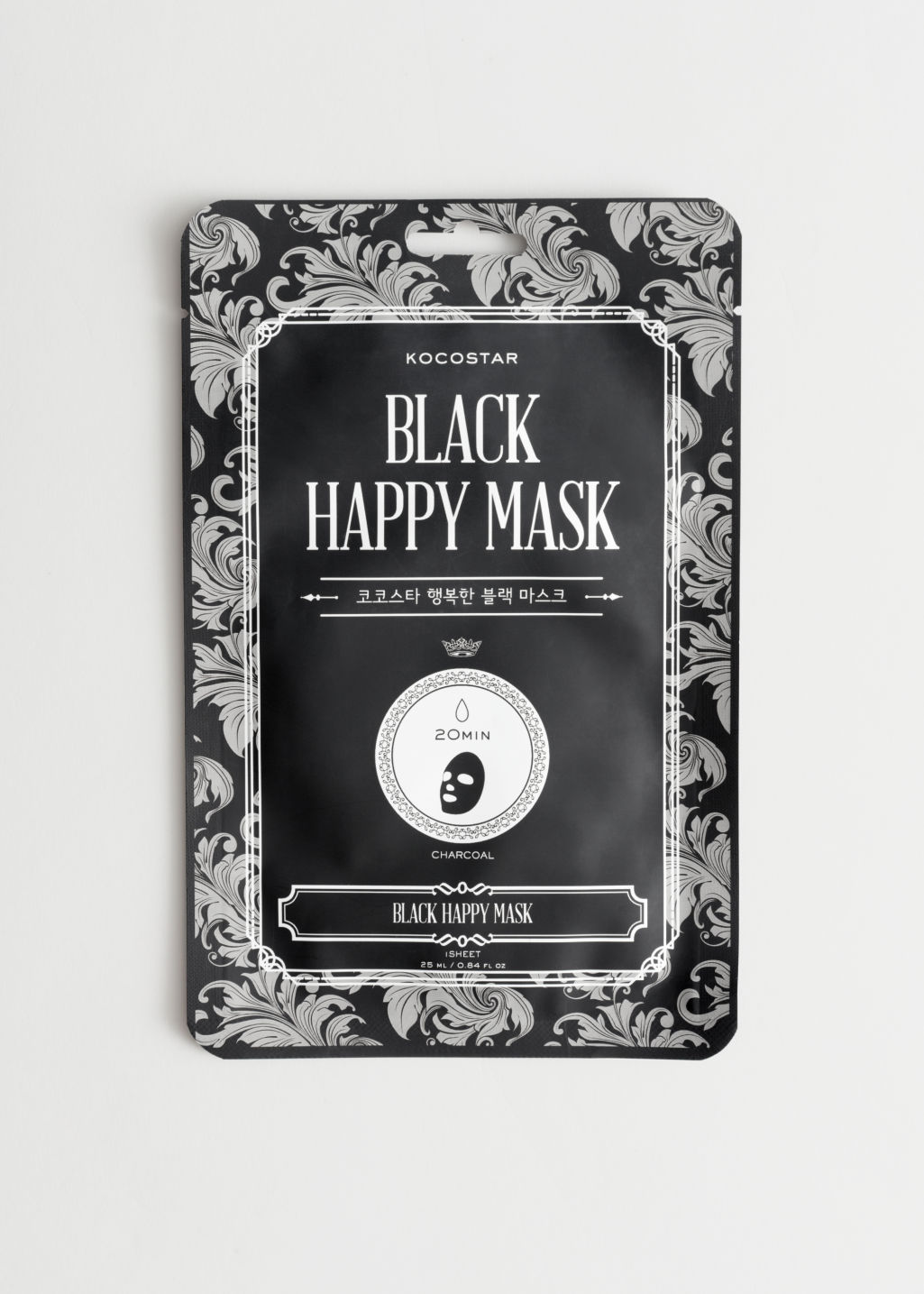 Front image of Stories kocostar happy mask in black