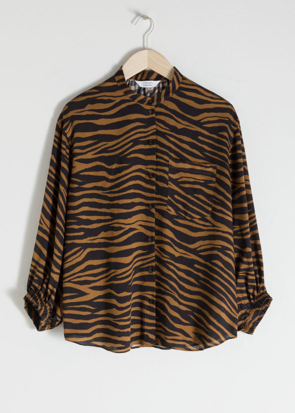 Zebra Print Button Up
