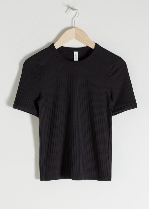 Fitted Stretch Rib T-Shirt