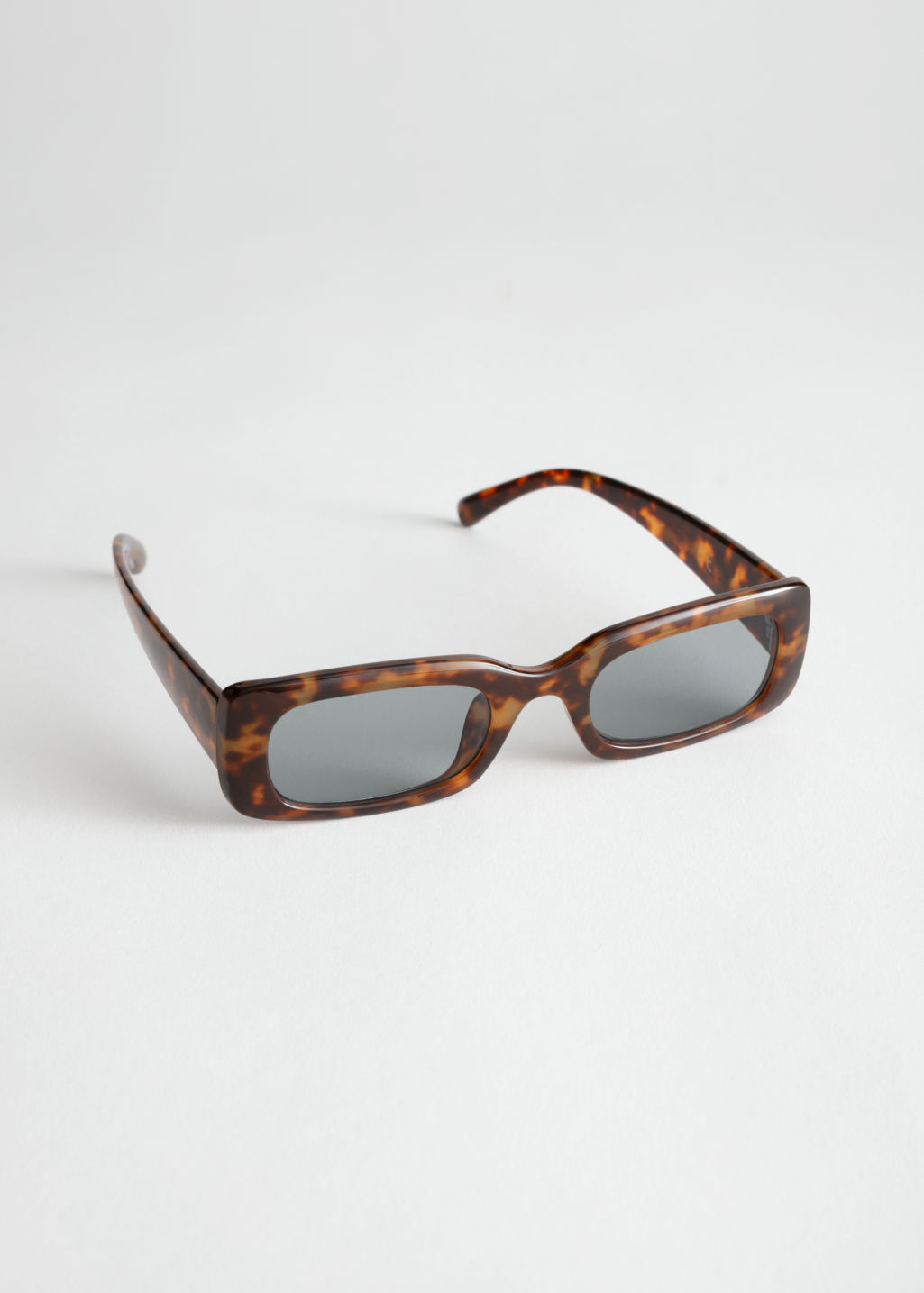 796019aaa9a Rectangular Frame Sunglasses - Tortoise - Square frame -   Other ...