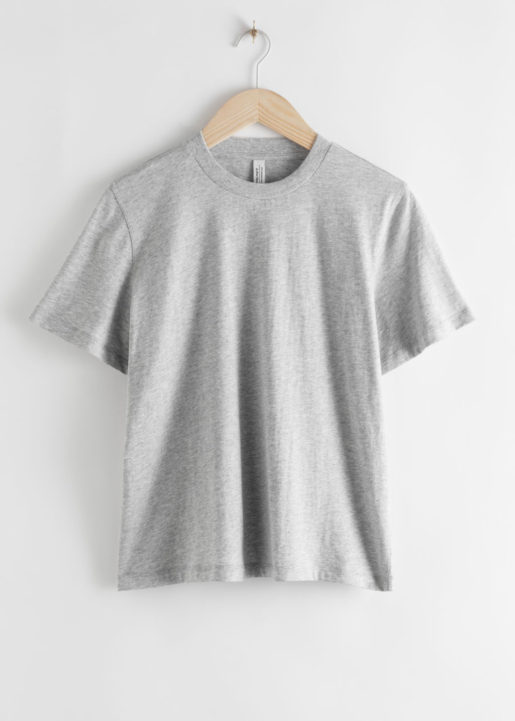 Front image of Stories boxy organic cotton tee in grey