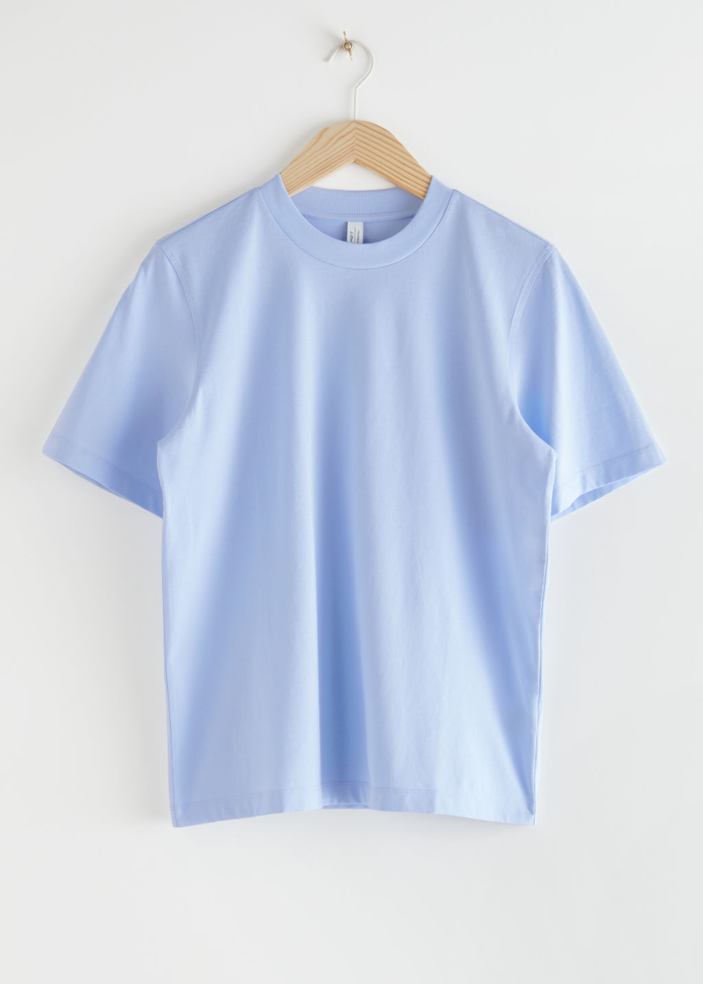 StillLife Front Image of Stories Boxy Organic Cotton T-Shirt in Blue