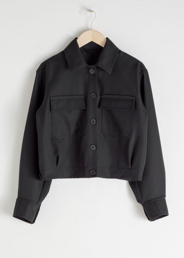 Wool Blend Workwear Jacket