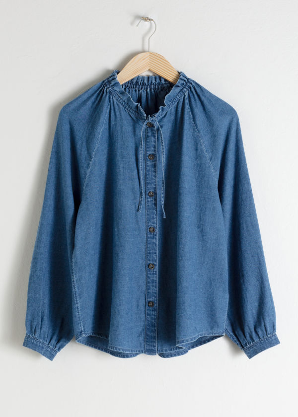 Raglan Denim Blouse