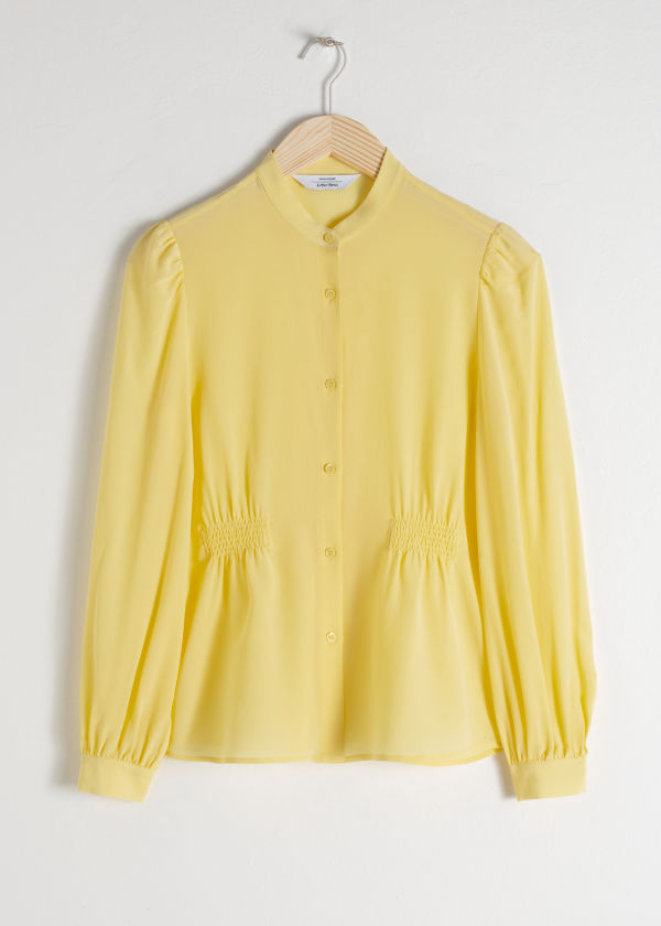 Ruched Silk Blouse