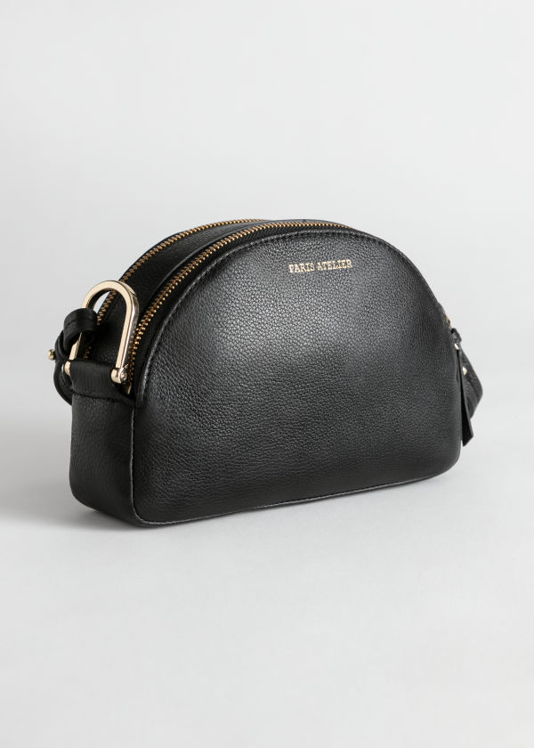Half Moon Leather Crossbody Bag