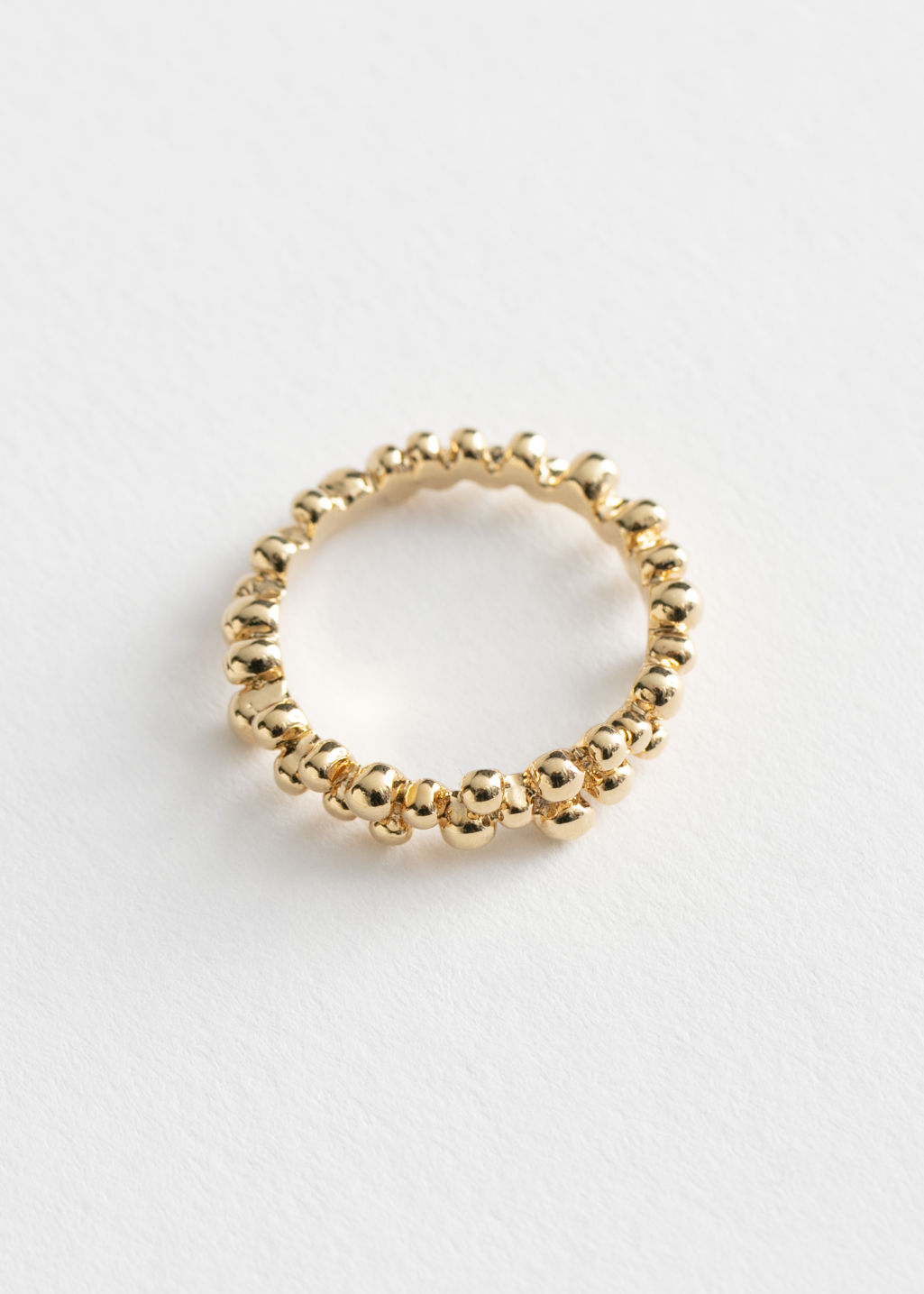 StillLife Front Image of Stories Delicate Dotted Ring in Gold