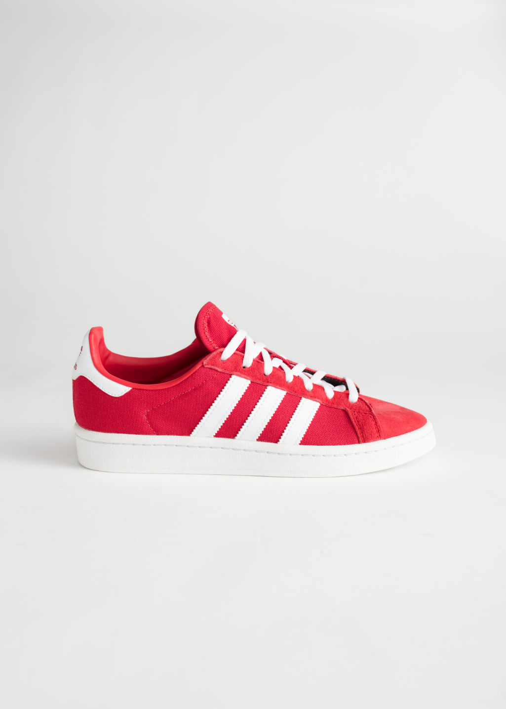 Front image of Stories adidas campus in red