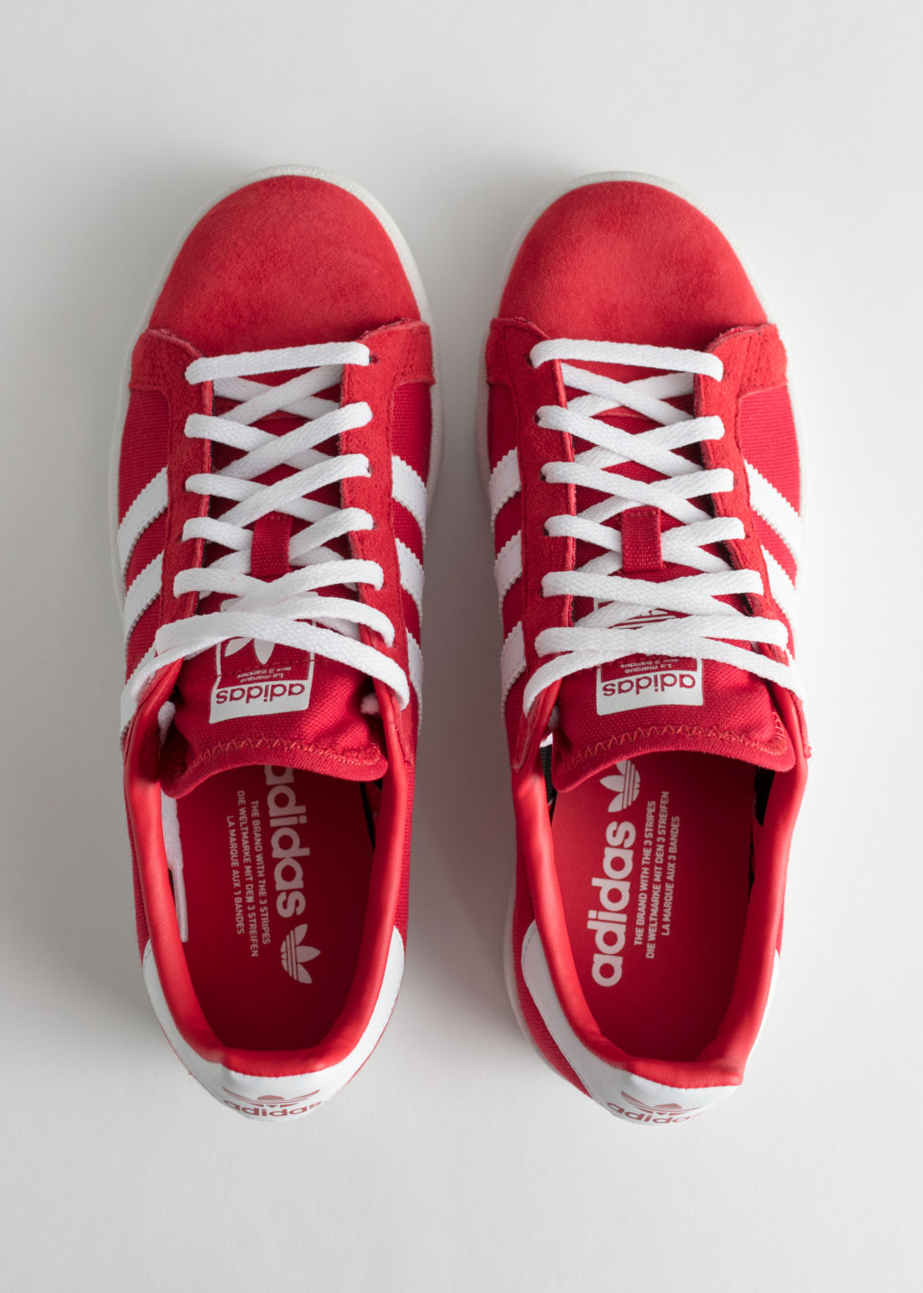 Back image of Stories adidas campus in red