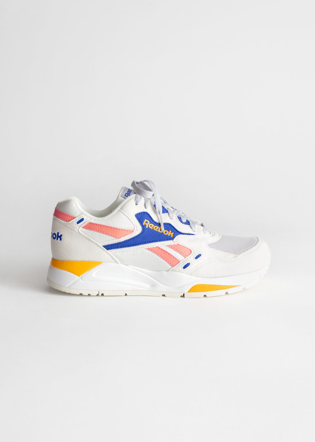 Front image of Stories reebok bolton in white
