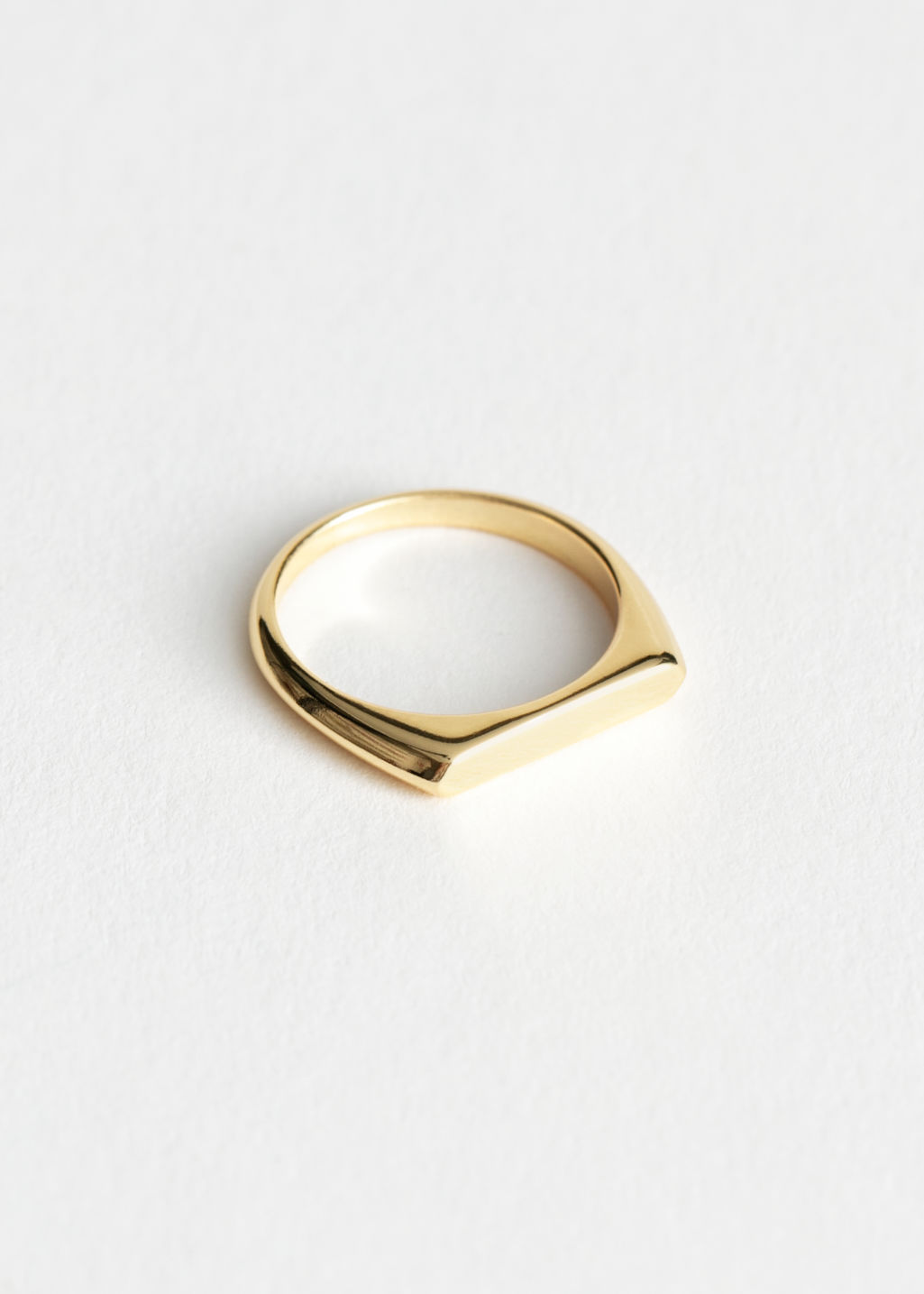 StillLife Front Image of Stories Flat Top Ring in Gold