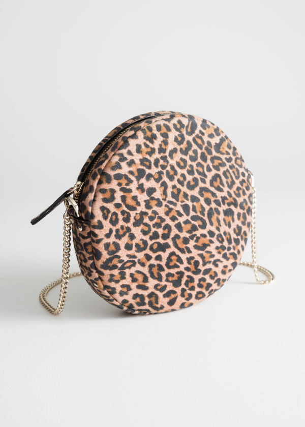 Leopard Suede Circle Bag