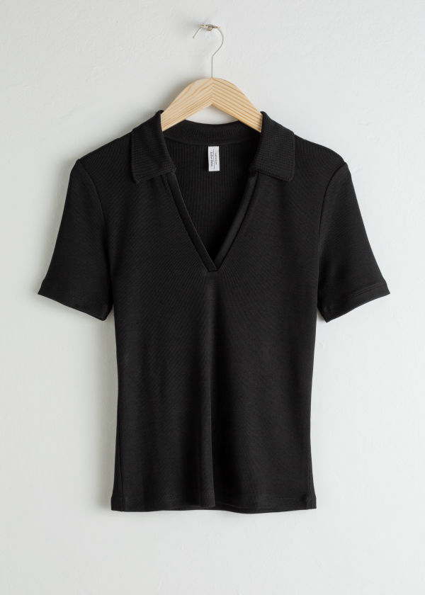 V-Neck Polo T-Shirt