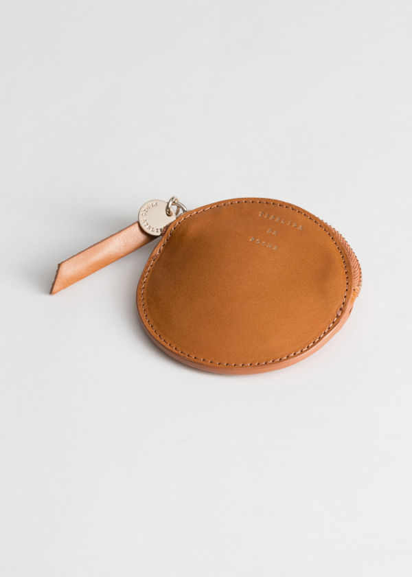 Leather Circle Coin Purse