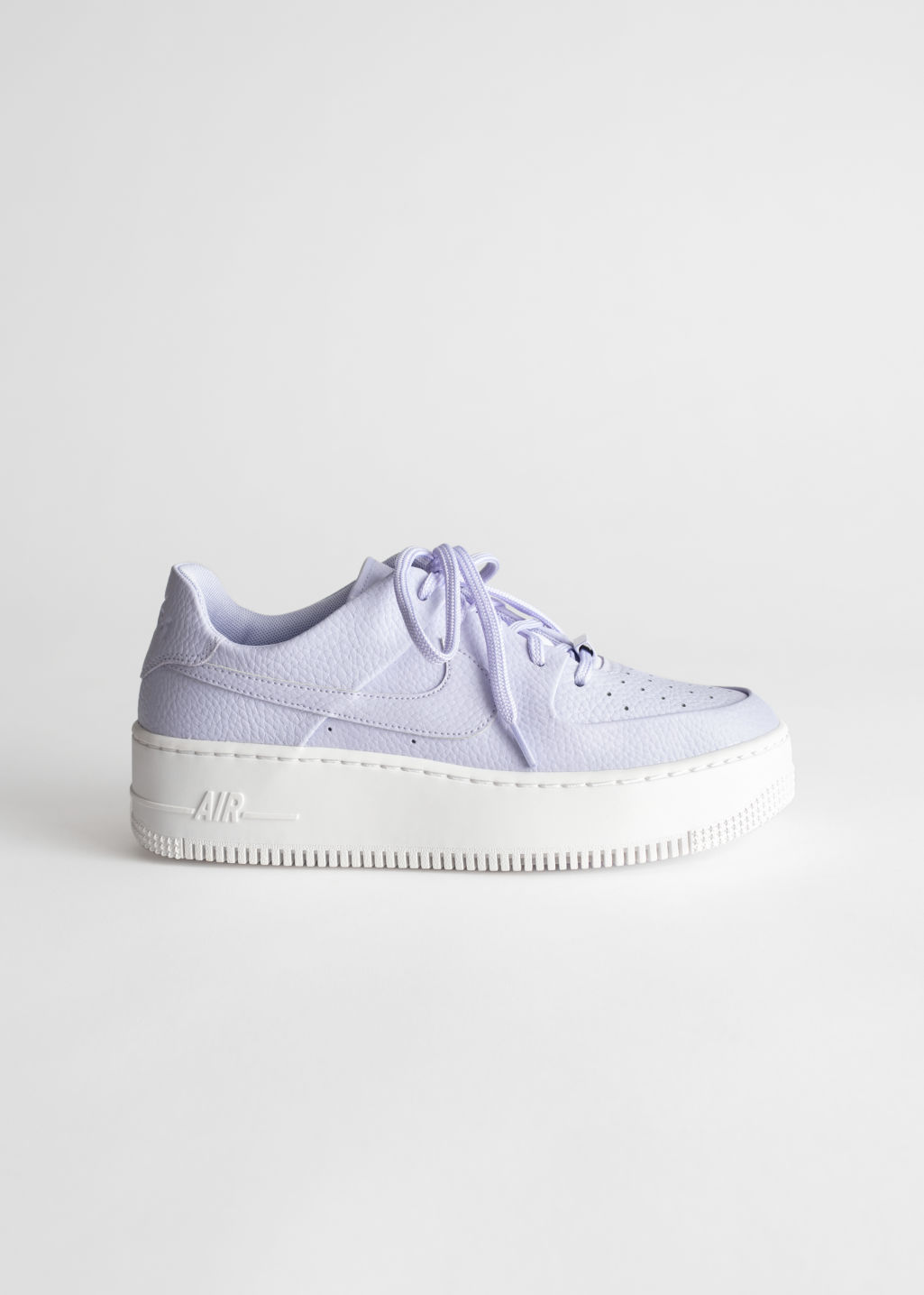 Front image of Stories nike air force 1 in pink