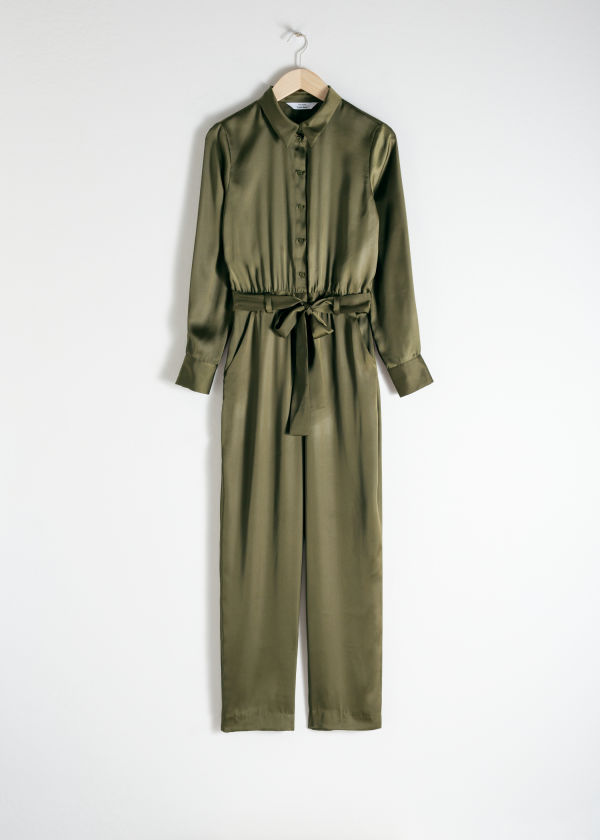Belted Satin Boilersuit