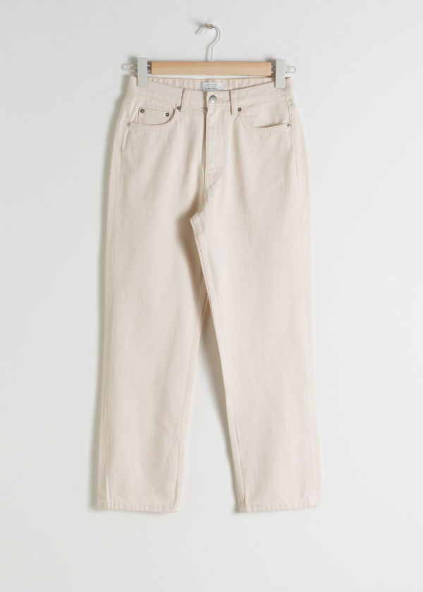 Tapered Mid Rise Jeans