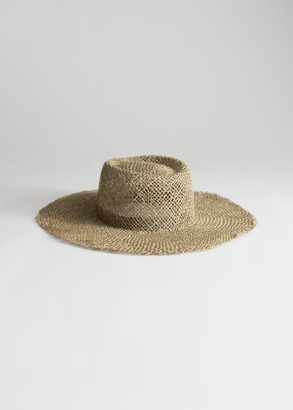 StillLife Front Image of Stories Straw Fedora Hat in Beige