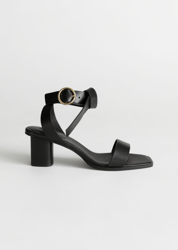 a27a8c676a3 Square Toe Criss Cross Heeled Sandals