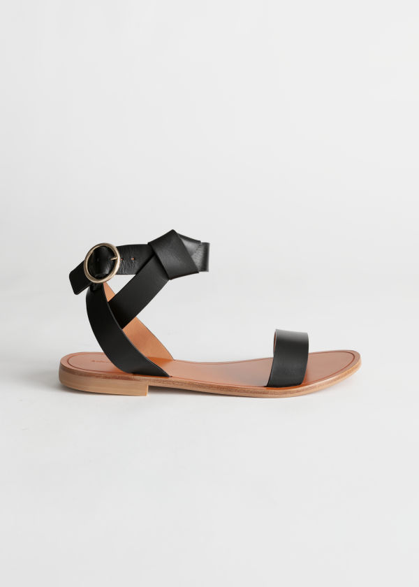 5ebfa48b850 Knotted Leather Criss Cross Sandals ...