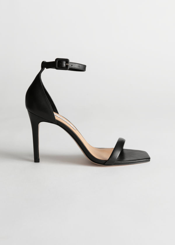Square Toe Stiletto Sandals
