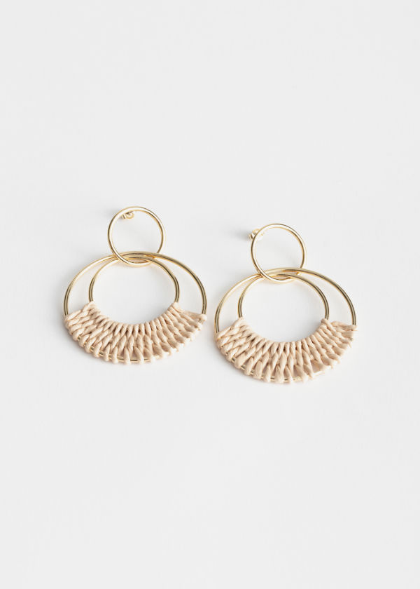 Woven Duo Hoop Earrings