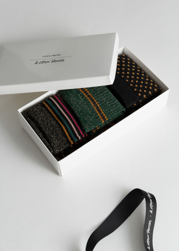 Metallic Socks Gift Set