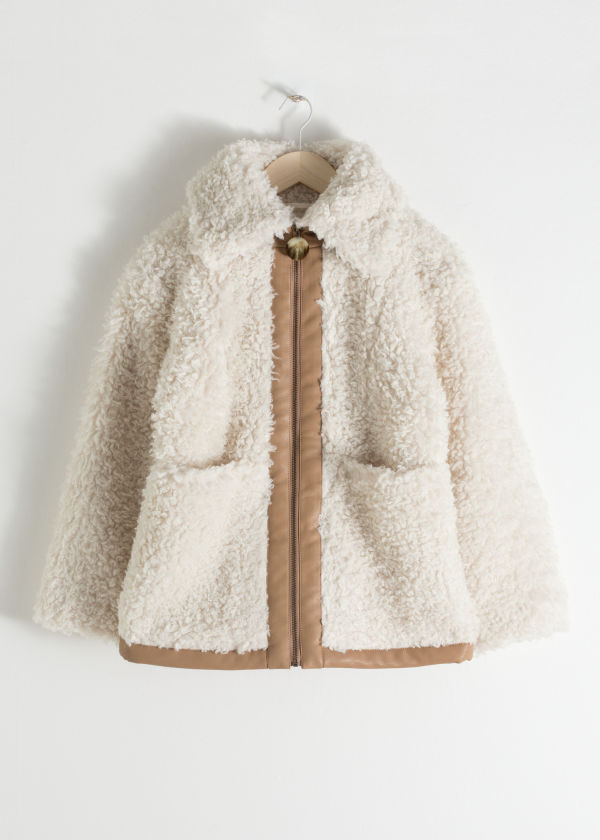 Faux Shearling Workwear Jacket