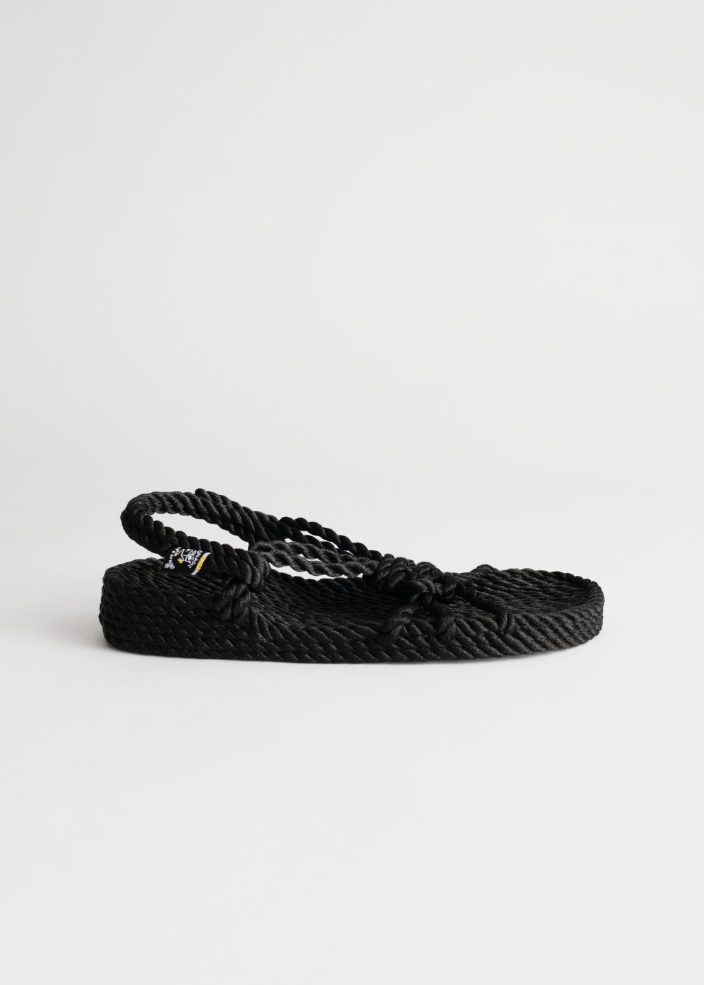 Front image of Stories nomadic state of mind sandals in black
