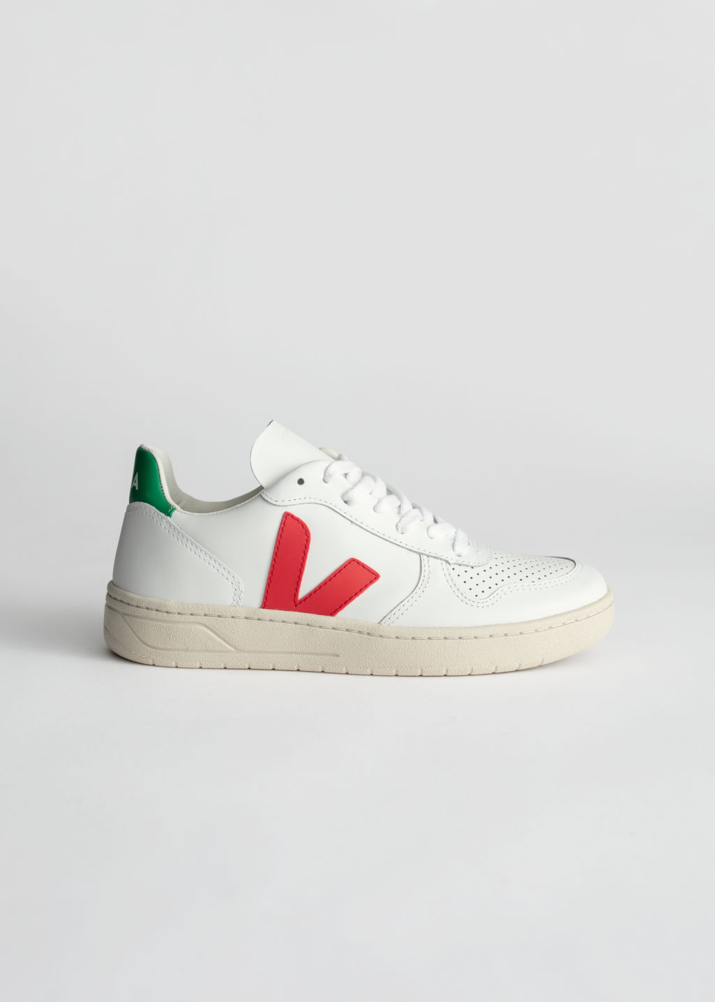 Front image of Stories veja v-10 sneakers in white