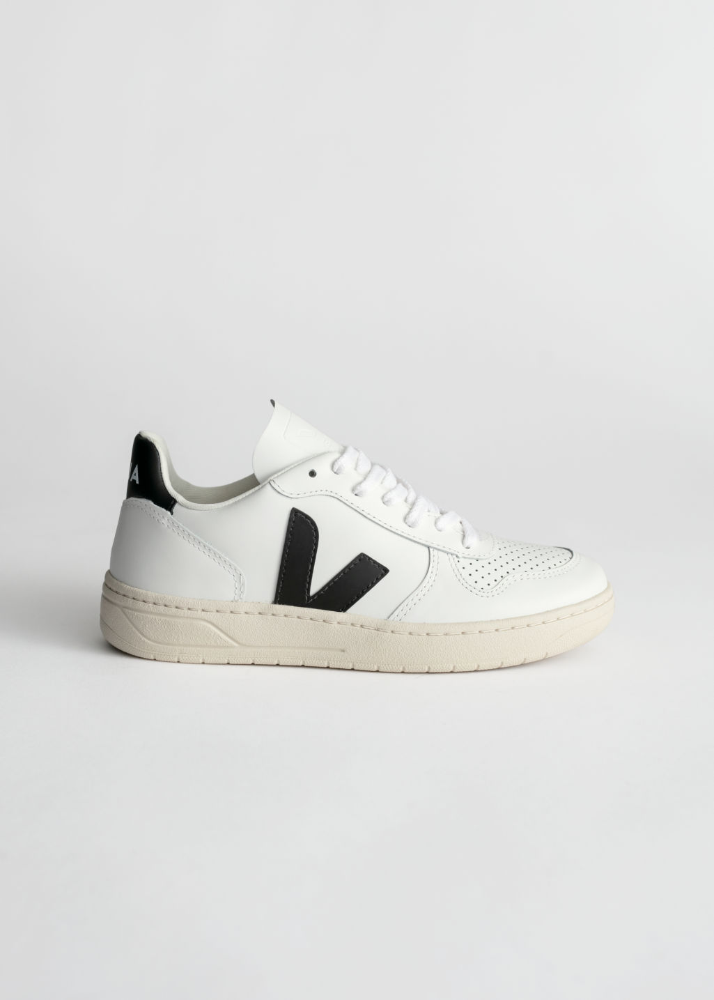 StillLife Front Image of Stories Veja V-10 Sneakers in White