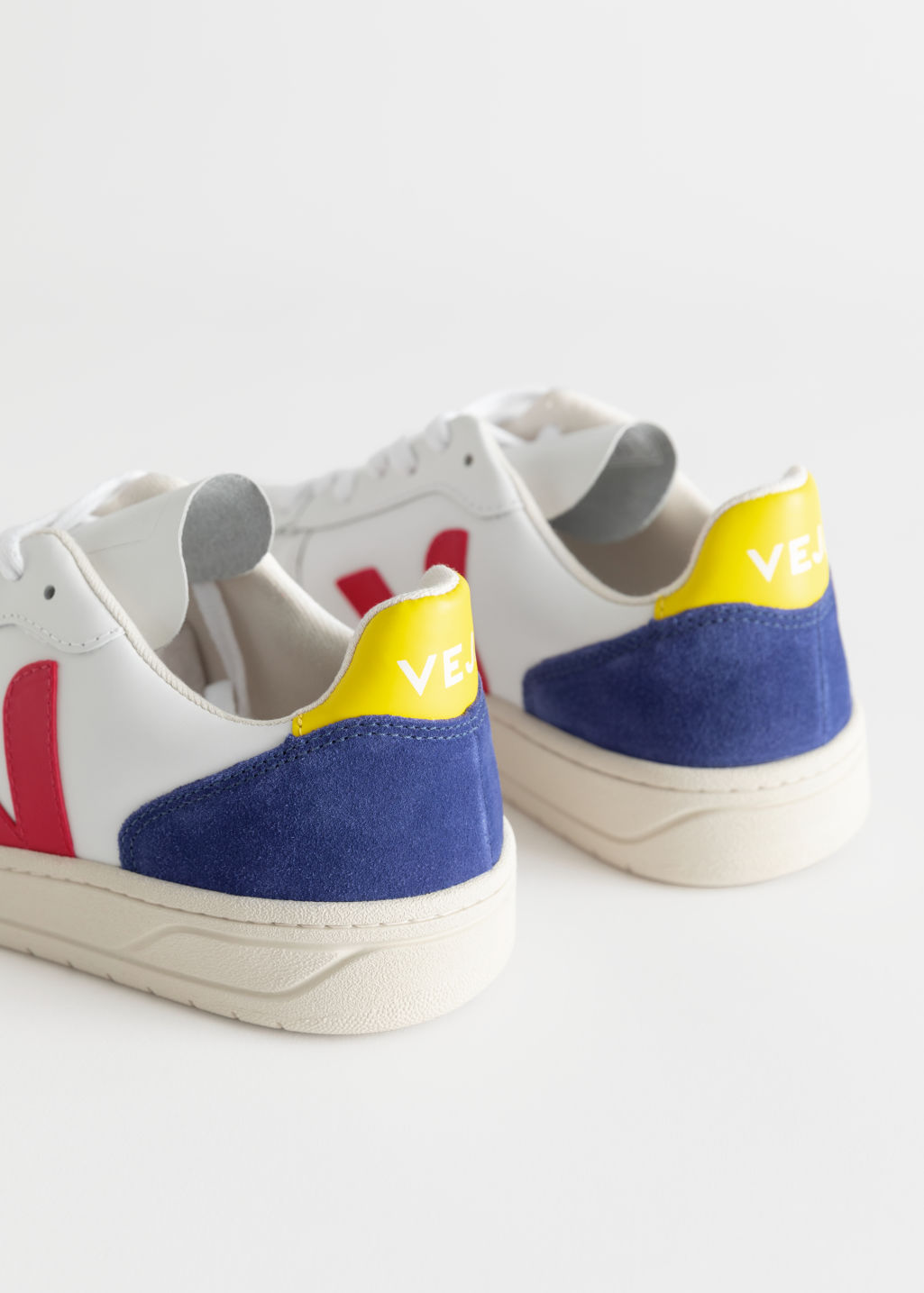 Back image of Stories veja v-10 sneakers in yellow