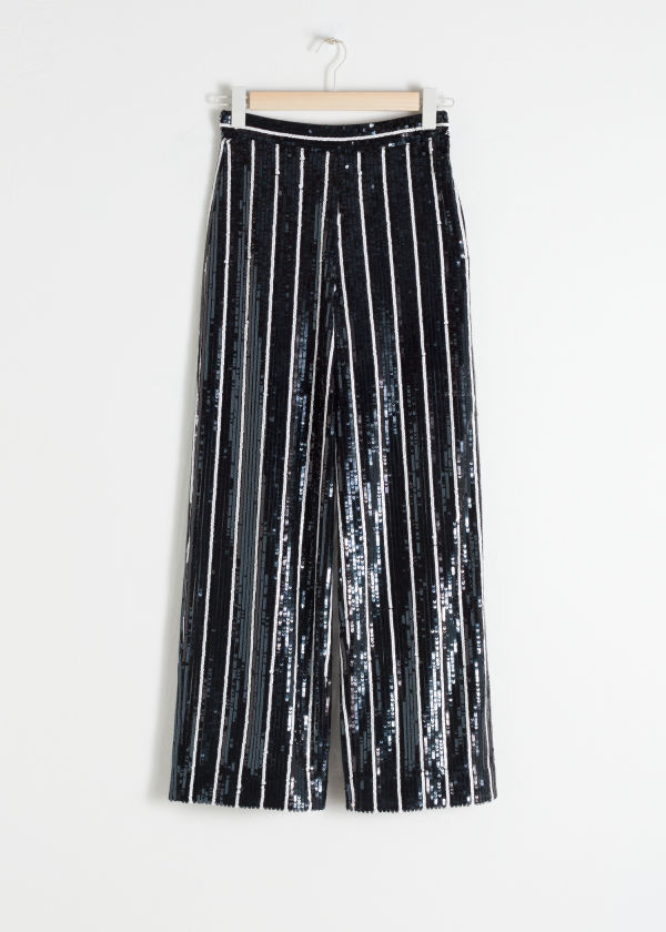 Striped Sequin Lounge Trousers