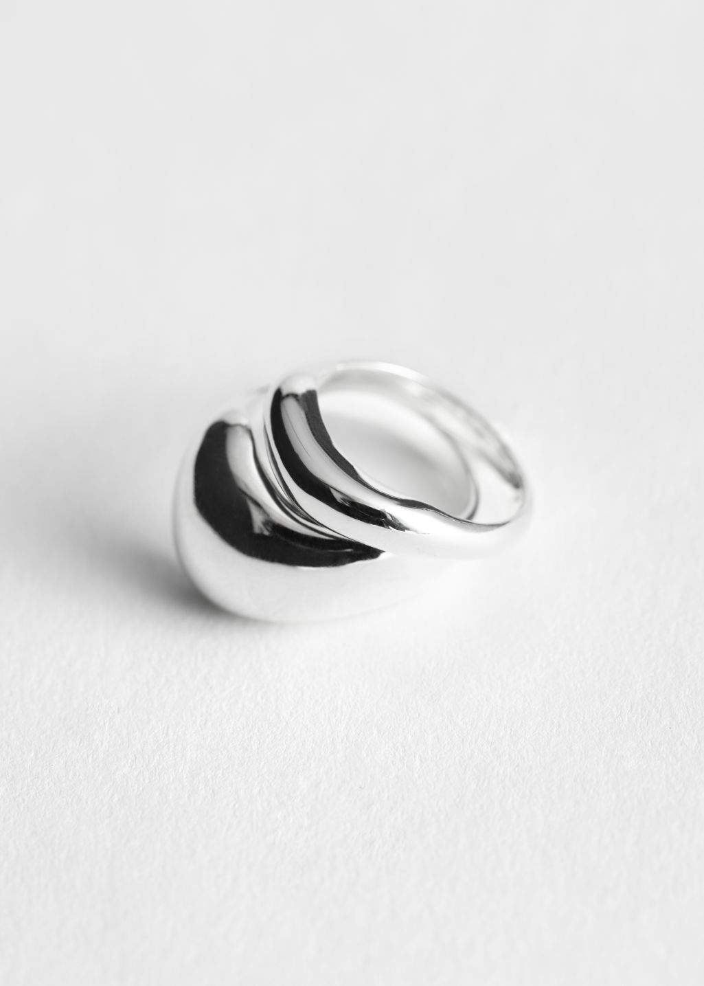 StillLife Front Image of Stories Two Pack Rings in Silver