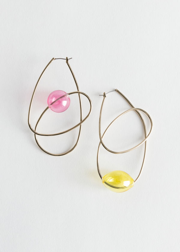 Twist Wire Hoop Earrings