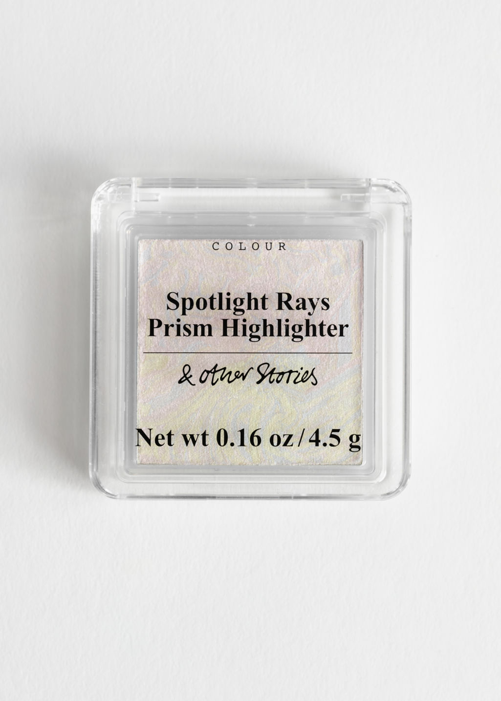 Front image of Stories prismatic highlighter in pink
