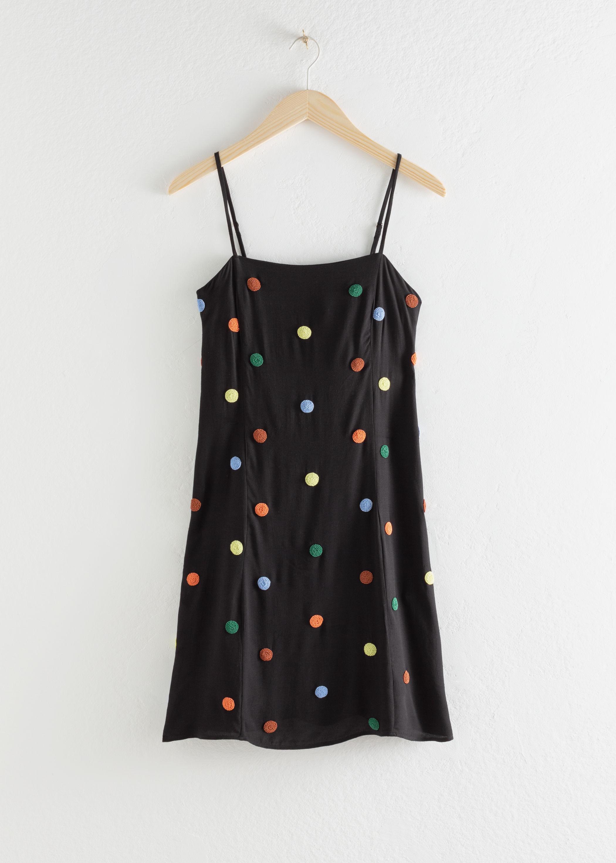 Beaded Polka Dot Mini Dress & other stories