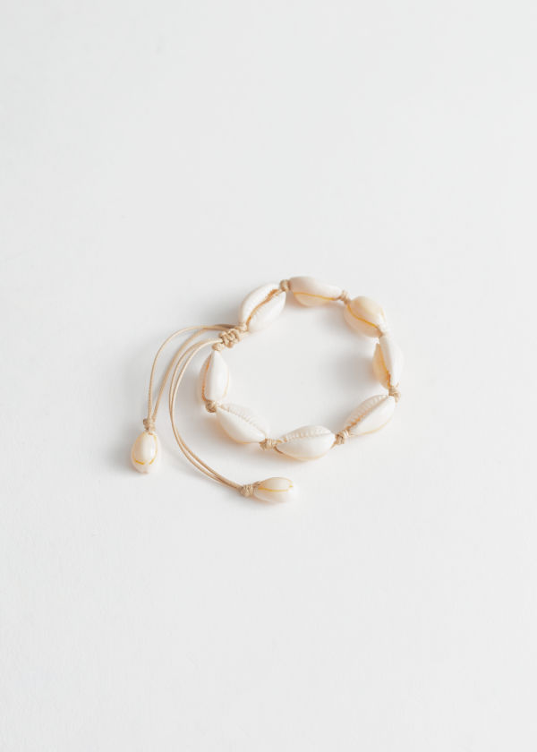 Adjustable Puka Shell Bracelet